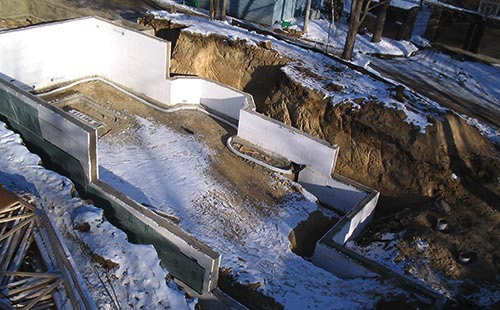 Aluminum Form Poured Walls Insulated Concrete Forms Brick