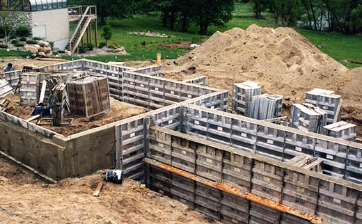 Gabrelcik enterprises poured wall foundations insulated concrete forms decorative stamped - Decorative concrete wall forms ...